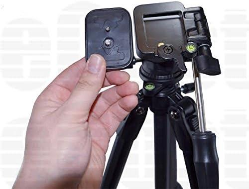 HDC-TM900 HC-V201 HDC-TM300K HC-V720 HC-V110 AG-AC8P AG-AC7 80 Inch Elite Series Professional Heavy Duty w// Angled Legs HC-V500M HC-V520 HDC-MDH1 AVCHD HC-X920 HDC-SD800 AG-A HDC-T750 HDC-SD90 Action Camcorder Tripod For Panasonic HC-V100M
