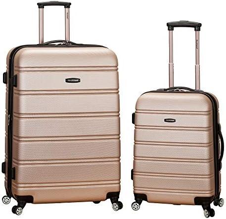 Rockland Melbourne Hardside Expandable Spinner Wheel Luggage, Champagne, 2-Piece Set (20/28)