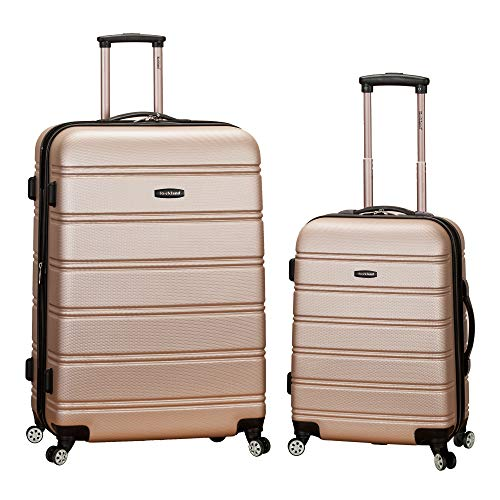 Rockland Luggage 20 Inch 28 Inch 2 Piece Expandable Spinner Set, Champagne, One Size (Trunkies Suitcases Best Price)