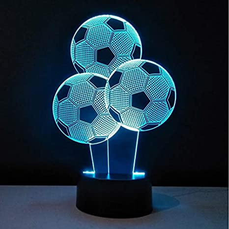 del 7 la la fútbol que cambian colores 3D Luz de noche LED htsQrd