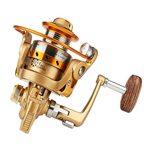 (Muranba Spinning Fishing Reel BMW150 Metal Spool Folding Arm Left Right 5.2:1)