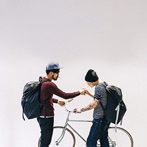 ZHUDJ Original Designer Japanische Retro Reisetasche, Umhängetasche, Männliche Tasche, Großvolumige Rucksack, Europäischen Und Amerikanischen Straße Tide Studenten, Schwarz Schwarzer Riemen