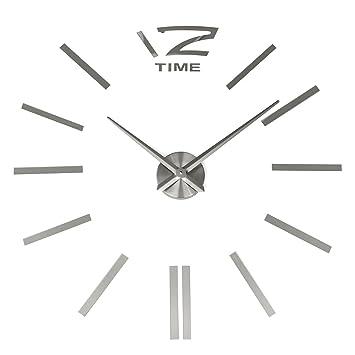 3d Wanduhr Diy Design Wohnuhr Meco Nummer Ziffer Uhr Wandaufkleber Wandtattoo Deko Acryl Spiegel Metall Rahmenlose Wandaufkleber Groß Uhren Style