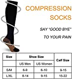 7 Pairs Copper Compression Socks for Men Women