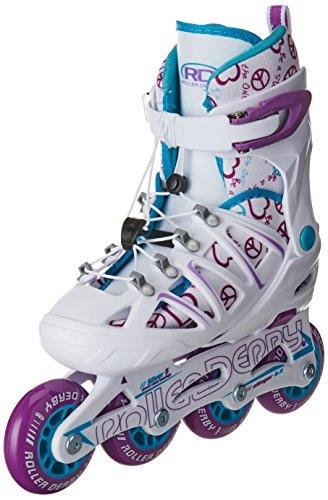 水分摂氏度影のあるRoller Derby Girl 's Stinger 5.2調節可能インラインスケート、スモールby Roller Derby
