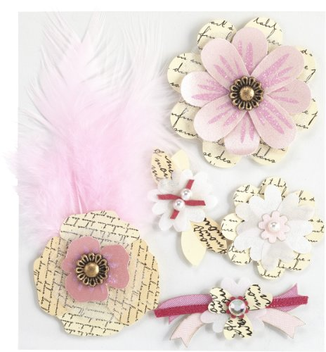 Jolee's Boutique Paper Collage Flowers Dimensional Stickers ()