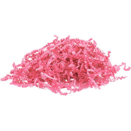 JAM PAPER Crinkle Cut Shred Tissue Paper - 2 oz - Hot Pink - Sold Individually