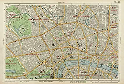 Map Of London Central.Amazon Com London Central Westminster West End City Islington
