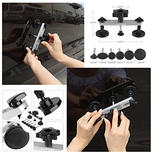 Fly5D 22Pcs Automotive No-scratch Paintless Dent Repair Kit Upgraded Dent Removal Bridge Puller kit by Fly5D (Image #1)'