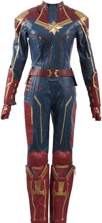 Cosplayfly Disfraz de superhéroe de Capitán Marvel Carol Danvers ...