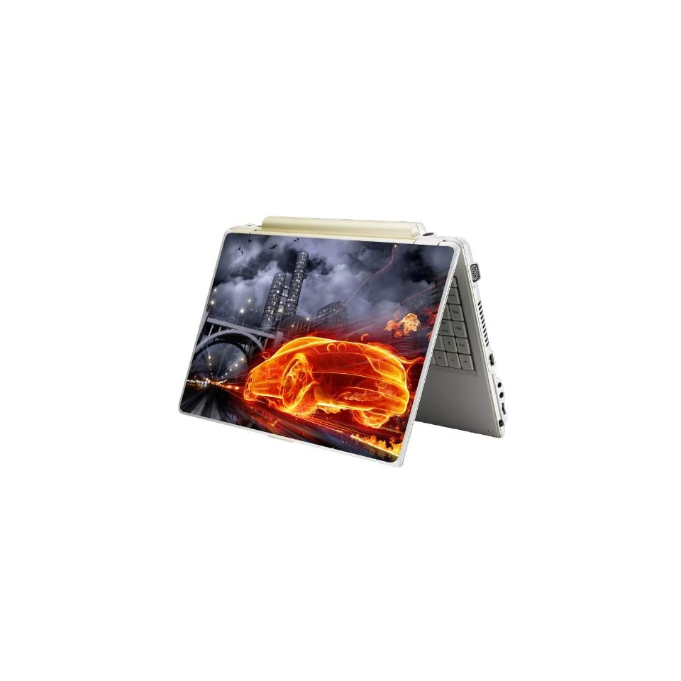 Bundle Monster Laptop Notebook Skin Sticker Cover Art Decal   12 14 15   Fit HP Dell Asus Compaq   Flame Racer
