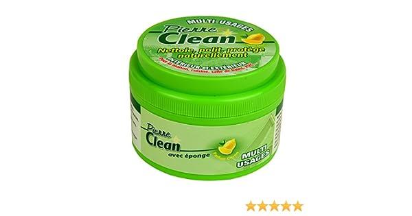 Pierre Clean 600 G aroma limón con esponja - Producto a base de arcilla, appelé aussi Pierre rénovante o piedra de barro, que permite de limpiar, pulir, ...