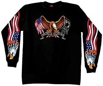 Black, X-Large Hot Leathers Some Gave All Long Sleeve T-Shirt