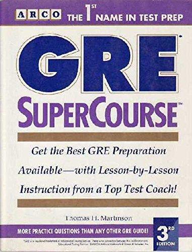 Gre Supercourse (SUPERCOURSE FOR THE GRE)