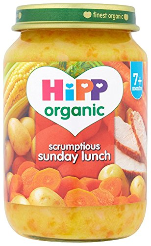 Hipp Organic Scrumptious Sunday Lunch Stage 2-7 Months 190 g (Pack of 2, Total 12 Jars)
