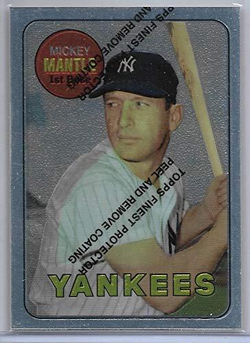 1996 Finest Baseball Mickey Mantle 1969 Commemorative Reprint Card # 19