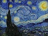 Cleana Arts Diamond Painting Kit,Van Gogh's Starry Sky Full Round Diamond Needlework 50cm40cm