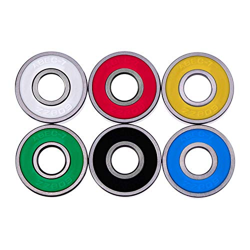 (LEEQ 18 Pieces 608 2RS Bearings for Hand EDC Toy, Multicolor)