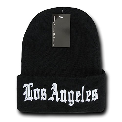 Nothing Nowhere City Los Angeles Beanies, Black 2