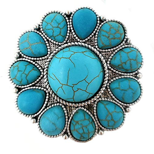 - Western Flower Phone Holder(Grip) Self Adhesive Charm Western Theme (Turquoise)