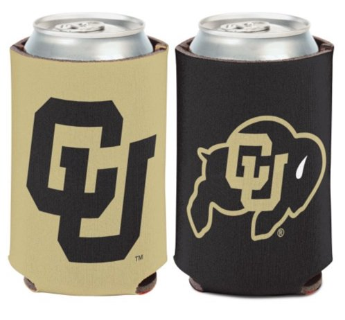 NCAA University Colorado Buffaloes 1 Pack 12 oz. 2-Sided Can Cooler -