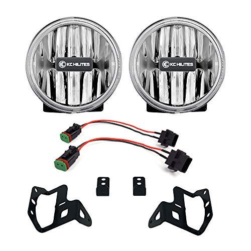 KC HiLiTES 502 Gravity LED G4 Clear Fog Lights for Jeep JL & JT Sport-S-Altitude Bumper