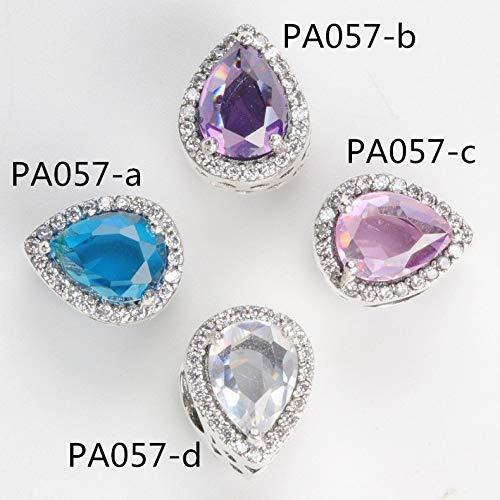 Color: PMG17, Item Diameter: 21cm Pukido PMG Silver Mix CZ Heart Clip Charms Bead Fits Original Charm Bracelet DIY Women Jewelry