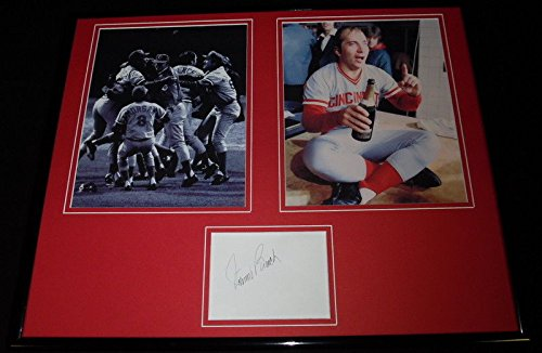 Johnny Bench Signed Framed 16x20 Photo Set JSA Reds Big Red Machine Big Red Machine Framed Photo