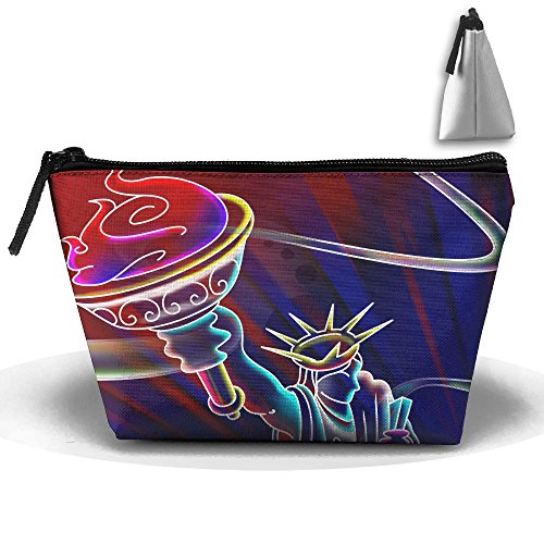 Makeup Bag Trapezoidal Storage Bag Lady Liberty Portable Cos