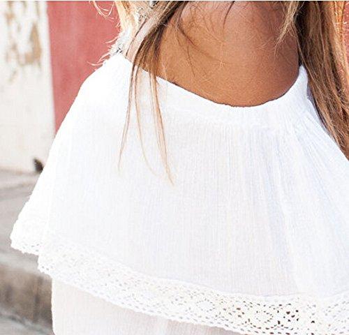 1d297b26daf6e Relipop Women s Short Sleeve Shirt Strapless Blouses Off Shoulder Tops at  Amazon Women s Clothing store