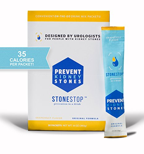 StoneStop - Kidney Stone Treatment and Prevention Drink Mix Powder - Exclusive Formula Developed By Urologists - 30 Packets 14 OZ (390g) by StoneStop LLC