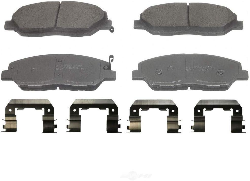 Fit 2007-2009 Hyundai Santa Fe Front Sport Blank Brake Rotors+Ceramic Brake Pads