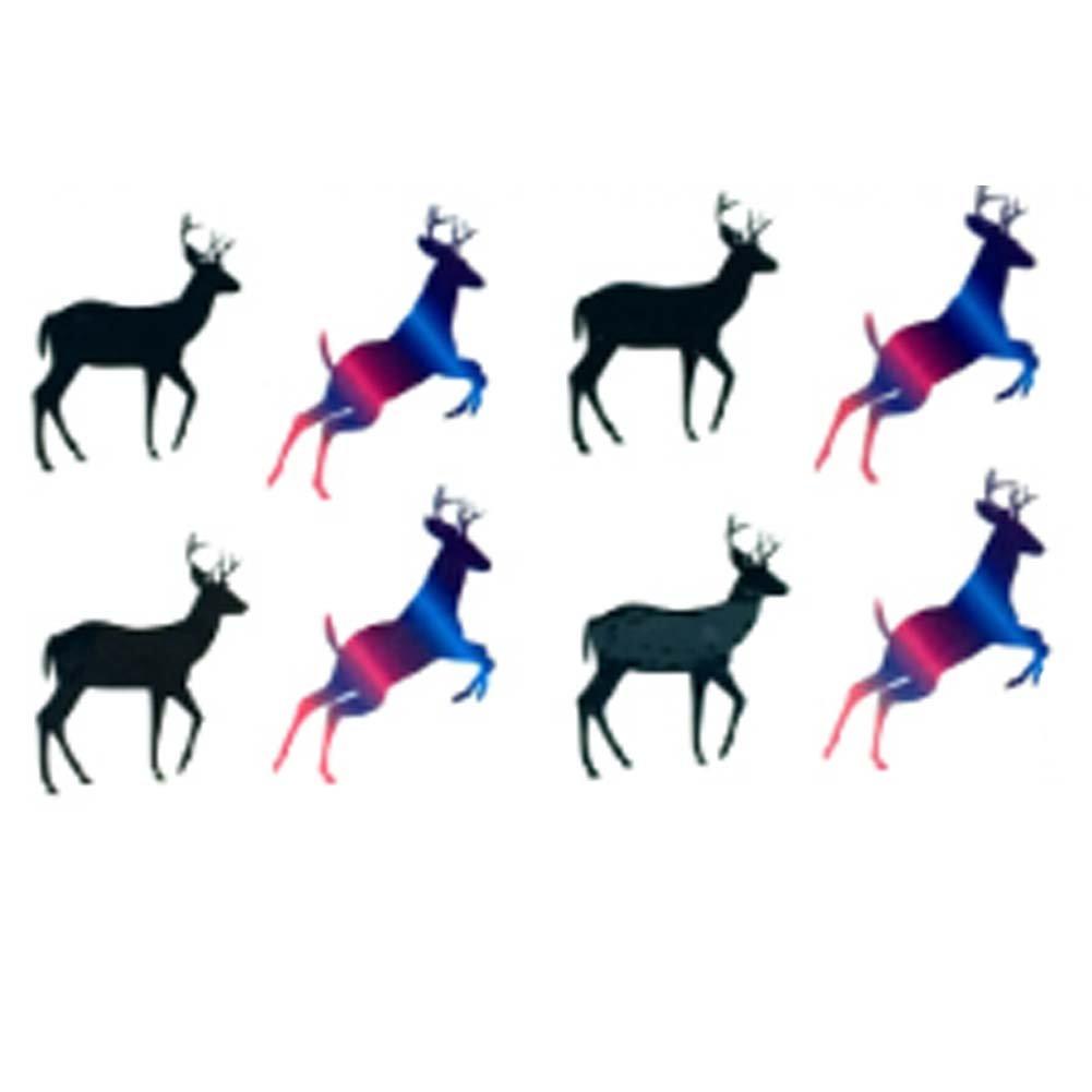 10 Pcs Cool Gradient Color Deer Waterproof Tattoo Sticker Arm Sticker