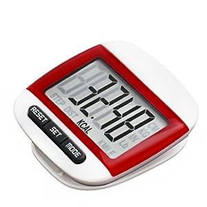 LUNIWEI LCD Digital Pedometer Belt Clip Walking Calorie Distance Counter
