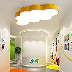 Ceiling light Creative Personality Bedroom Ceiling Light Cartoon Children's Room Light Maternal Baby Natatorium Kindergarten Playground Decorative Lights A+ ( Color : Yellow , Size : 904856W )