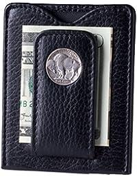 Buffalo Nickel Money Clip Credit Card Wallet (80B-P)