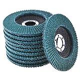 Maslin 80 Pcs/set 40 Grit + 60 Grit + 80 Grit + 120 Grit Wheel Angle Grinder Sanding Flap Wheel Disc Abrasive Wheel Flap Disc Deburring