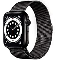 Compatible with Apple Watch Band 38mm 40mm, Adjustable Stainless Steel Metal Mesh Loop Bracelet Straps Wristbands for…