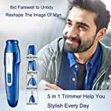 Nose Hair Trimmer for Men Rechargeable, 5 in 1 Personal Waterproof Electric Shaver Razor/Sideburns / Eyebrow/Body Hair Shaiver/Nose Ear Hair Removel Trimmer for Women Facial Bikini Grooming Kit
