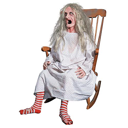 Fun Express - Rocking Granny Animated for Halloween - Home Decor - Decorative Accessories - Home Accents - Halloween - 1 Piece -
