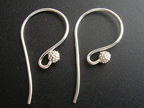 3 Pairs, Artisans Bright Sterling Silver Fancy French Earwire with Cluster Beads - EW-0010