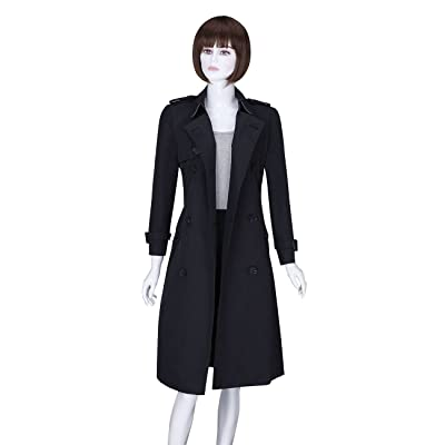 ADAMARIS Women's Autumn/Winter Double-Breasted Trench Coat with Belt