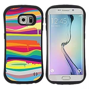 "Hypernova Slim Fit Dual Barniz Protector Caso Case Funda Para Samsung Galaxy S6 EDGE [Colores psicodélicos Arte Pintura""]"