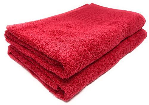 Maymarg 100% Cotton Towels (Tomato, Bath Towels - Set of 2, 28x56) ()