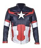 MSHC Men's Captain America Ultron Faux Leather Jacket 4XL Multi Color