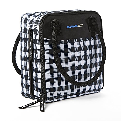 (Rachael Ray Newton Insulated Lunch Bag, Gingham Black)