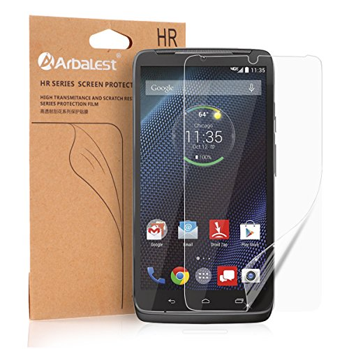 Arbalest® Motorola DROID Turbo Screen Protector ,[Full HD] [ High Clear ][3-PACK] ** JAPANESE PET FILM ** High Definition (HD) Bubble Free , Anti Fringerprint [LIFETIME WARRANTY], Premium Ultra Clear Front Screen Protector for Motorola Moto Droid Turbo Smartphone