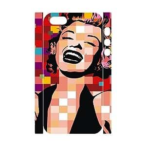 Marilyn Monroe SANDY0058181 3D Art Print Design Phone Back Case Customized Hard Shell Protection Iphone 5,5S