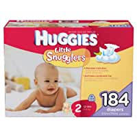 Huggies Little Snugglers, Size 2 (12-18 lbs.), 184 ct.