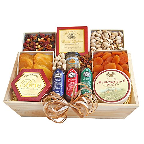 - California Delicious Meat and Cheese Gift Crate Deluxe